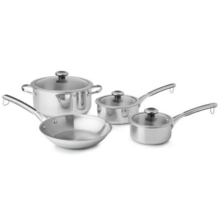 Copper Confidence Core™ 7-pc Stainless Steel Cookware Set